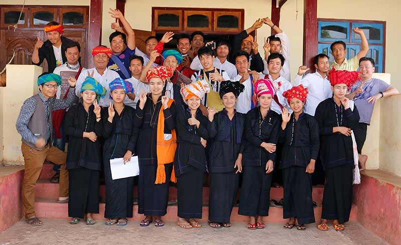 Tharthi Myay staff with partners